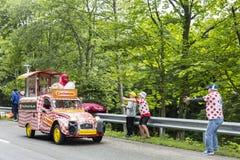 Cochonou-Fahrzeug-Tour de France 2014 Lizenzfreies Stockfoto