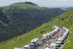 Cochonou husvagn - Tour de France 2016 Fotografering för Bildbyråer