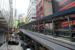 Cochrane-Straße, Hong Kong Island Stockfotografie