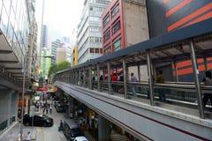 Cochrane väg, Hong Kong Island Arkivbild