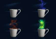 Cocido al vapor de la taza de café al vapor de Digitaces Imágenes de archivo libres de regalías