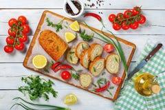 Cocido en pan de pescados de Gefilte del horno fotos de archivo