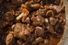 Cocido húngaro de carne de vaca fotos de archivo