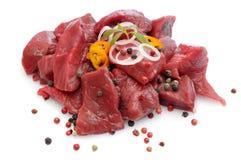 Cocido húngaro de carne de vaca sin procesar Imagenes de archivo