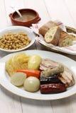 Cocido madrileno, chickpea and pork stew Stock Photos