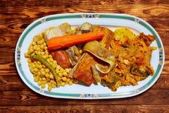 Cocido Maragato recept av Biezo Leon i Spanien Royaltyfri Fotografi
