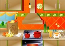 Cocina Foto de archivo libre de regalías