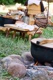 Cocina al aire libre tradicional Imagenes de archivo