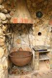 Cocina al aire libre vieja Fotos de archivo libres de regalías