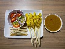 Cocina asiática, cerdo Satay o Moo Satay Fotos de archivo