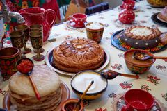 Cocina Belorussian Fotos de archivo libres de regalías