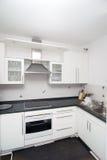Cocina blanca Foto de archivo