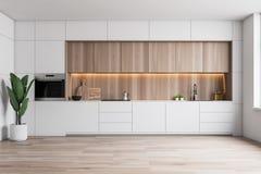 Cocina blanca de Minimalistic con el horno ilustración del vector