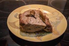 Cocina casera Cerdo con las especias Foto de archivo libre de regalías