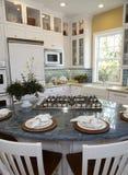 Cocina casera de lujo moderna Foto de archivo