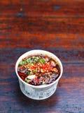 Cocina china - bocados de Sichuan Imagenes de archivo