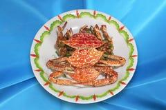 Cocina china, cangrejos fritos. Foto de archivo