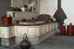 Cocina china del estilo tradicional Foto de archivo libre de regalías