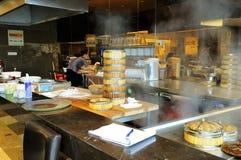 Cocina china del restaurante Foto de archivo
