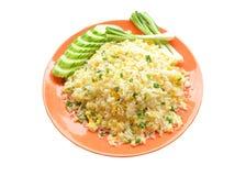Cocina china - Fried Rice con las verduras y la carne Imagenes de archivo