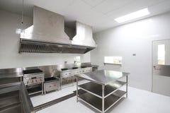 Cocina comercial Foto de archivo libre de regalías