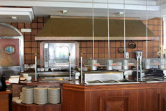 Cocina comercial moderna Foto de archivo