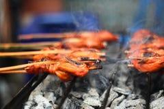 Cocina, comida tailandesa tailandesa; Pollo de asación tailandés de la cocina Foto de archivo