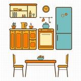 Cocina con muebles Imagenes de archivo