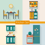 Cocina con muebles Fotos de archivo