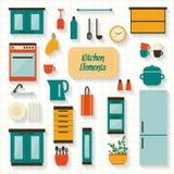 Cocina con muebles Imágenes de archivo libres de regalías