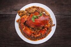 Cocina de Asia del cangrejo de los chiles Fotos de archivo