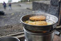 Cocina de campo en el refugio Foto de archivo libre de regalías