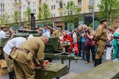 Cocina de campo militar del festival internacional Foto de archivo