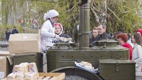 Cocina de campo militar fotos de archivo libres de regalías