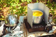 Cocina de campo sucia fotos de archivo libres de regalías