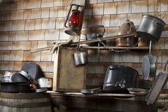 Cocina de expediente del campo del vaquero tradicional Imágenes de archivo libres de regalías