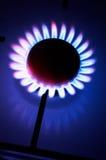 Cocina de gas de la cocina Imágenes de archivo libres de regalías