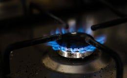 Cocina de gas sucia Foto de archivo libre de regalías