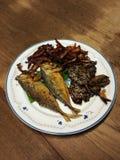 Cocina de la comida de pescados Imagen de archivo libre de regalías