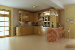 Cocina de lujo clásica Foto de archivo