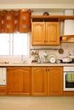 Cocina de madera Foto de archivo
