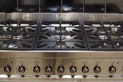 Cocina del acero inoxidable Imágenes de archivo libres de regalías