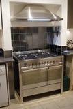Cocina del acero inoxidable foto de archivo