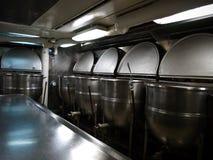Cocina del barco del petrolero de la nave Imagenes de archivo
