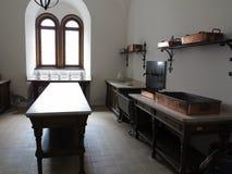 Cocina del castillo Foto de archivo libre de regalías