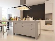 Cocina del diseño moderno | Arquitectura interior Imágenes de archivo libres de regalías
