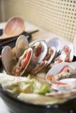 Cocina del japonés del hotpot de la ostra Imagen de archivo