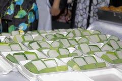 Cocina del pelita de Tepung en un mercado callejero foto de archivo libre de regalías