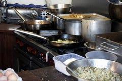 Cocina del restaurante Foto de archivo libre de regalías
