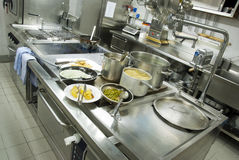 Cocina del restaurante Fotos de archivo